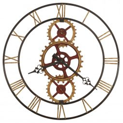"Howard Miller Hannes 49"" Gear Wall Clock 625645"