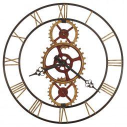 """Howard Miller Hannes 49"""" Gear Wall Clock 625645"""