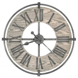"Howard Miller Eli 32"" Wrought iron Wall Clock 625646"