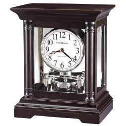 Howard Miller Cassidy Black Coffee Mantel Clock 635198