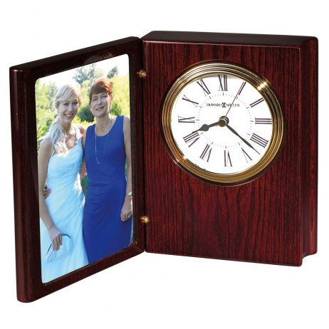 Howard Miller Portrait Book II Rosewood Tabletop Clock 645711