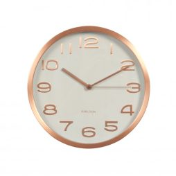 "Maxie 11.4"" Copper Frame Wall Clock - Karlsson KA5578WH"