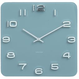 "Karlsson 13.8"" Glass Wall Clock, Blue KA5641BL"
