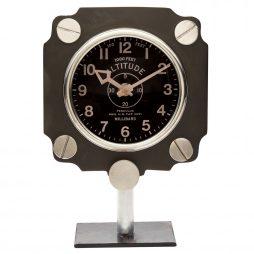Altimeter Mantel Clock - Black- Pendulux TCALMBK