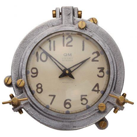 Quartermaster Wall Clock Aluminum - Pendulux WCQTMAL