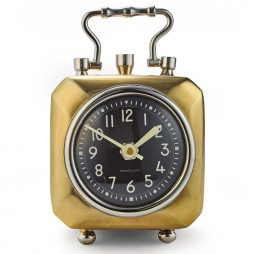 Pendulux Annette Brass Table Clock TCANNBR