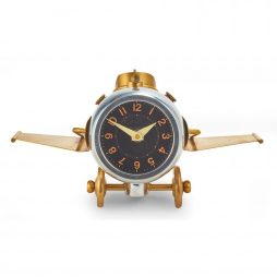Pendulux Thunderbolt Aviation Table Clock TCTHUAL