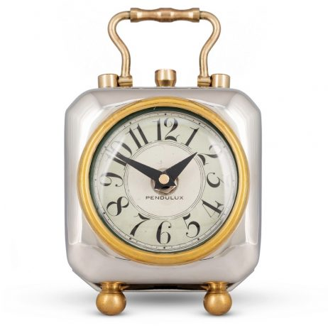 Pendulux Tyler Nickel Table Clock TCTYLAL