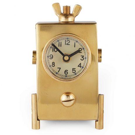 Pendulux Wingnut Brass Clock - TCWINBR