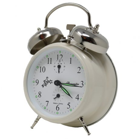 Sternreiter Double Bell Alarm Clock - Pearl White MM 111 602 31