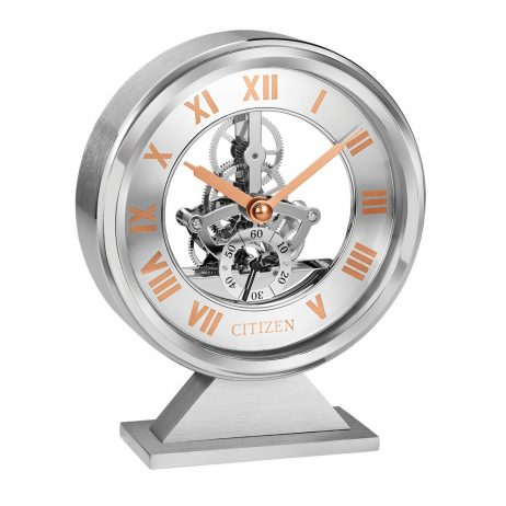 Citizen Decorative Skeleton Table Clock CC1027