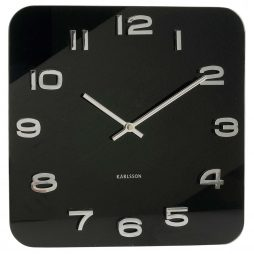 "Karlsson 13.8"" Glass Wall Clock, Black KA4398"