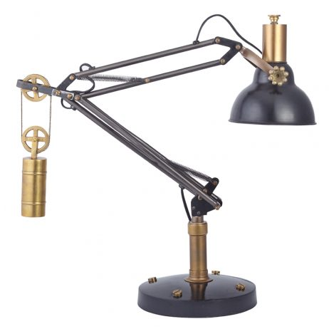 Manchester Industrial-Design Table Lamp TLMANBK
