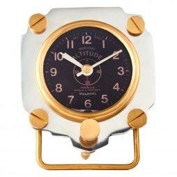 Pendulux Altimeter Alarm Clock - Aluminum ACALTAL