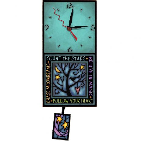 Follow Your Heart Wall Clock - Michael Macone WAC194