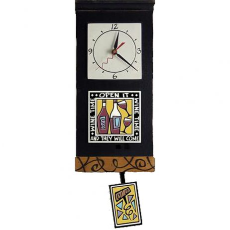 Wine Time Wall Clock - Michael Macone WCP4B
