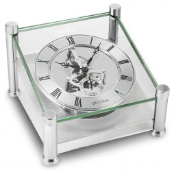 Quantum Skeleton Table Clock Bulova B9850