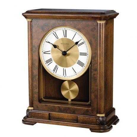 Vanderbilt Musical Mantel Clock Bulova B1860