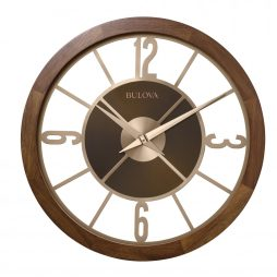 SAVE 50/% Industrial Metal Black Copper Skeleton Cut Out Round Wall Clock 40 cm