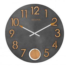 "Flatiron 19-1/2"" Wall Clock Bulova C4119"