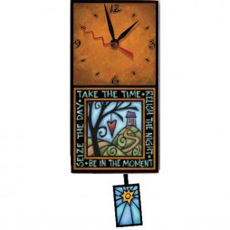 Take Time Decorative Wall Clock Macone Clay WAC195