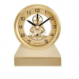 3D Rose Black Dog with Love and Yellow Background Desk Clock 6 x 6